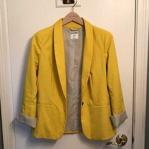 Old Navy Yellow Blazer